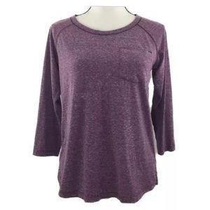 🎃 Columbia Omni-Wick Purple Long Sleeve Top